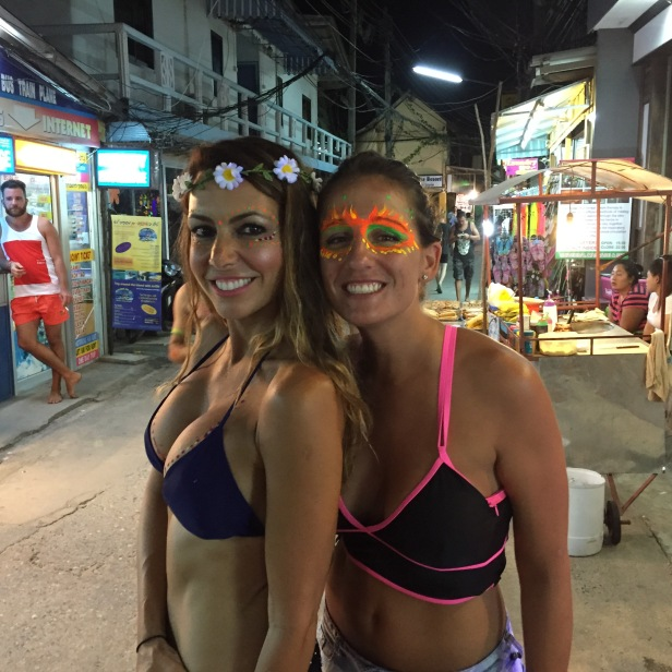 full moon party on Koh Phangan is a time for scandalous clothing and body paint