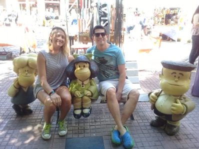 A trip to San Telmo wouldn't be complete without getting a photo with the famous Mafalda cartoon statue
